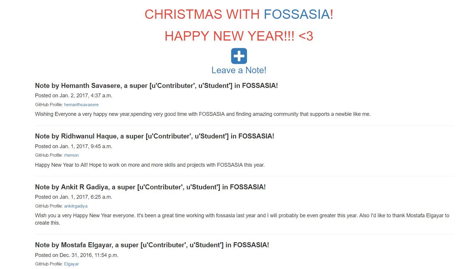Christmas With FOSSASIA